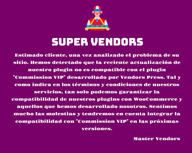 Repuesta de Super Vendors